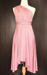 Blush Convertible Wrap Twist Dress
