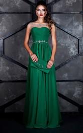 A-line Floor-length Bateau Short Sleeve Jersey Zipper Dress