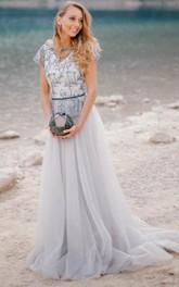 Real Bride Photos Grey Wedding Dress