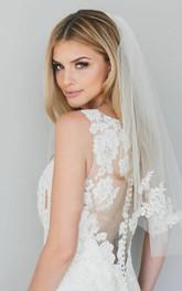 Soft Single Layer Short Tulle Bridal Veil