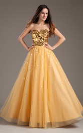 Amazing Taffeta Net Sequined Sleeveless a Line Sweetheart Special Occasion Dresses