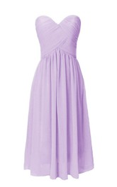 Simple Sweetheart Ruched Short Dress With Lace-up Back
