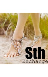 Western Style Fresh Beach Wedding Bridal Accessories Leisure Vacation Large Diamond Anklets