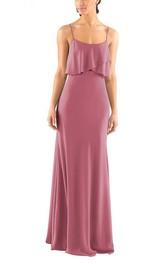 Spagetti Straps Sheath Long Dress