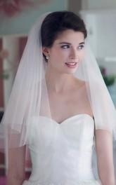 Double-layer Tulle Short Wedding Veil