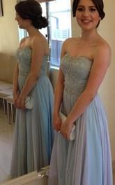Sweetheart Sleeveless Chiffon Dress with Beadings