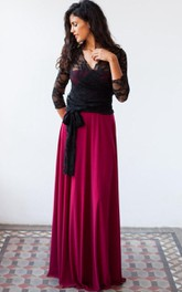 Long Sleeve Tulle&Lace&Jersey&Satin Dress With Jacket