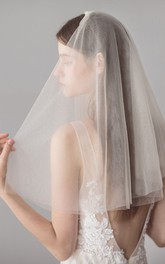 Soft Simple Style Two Tier Shoulder Veil