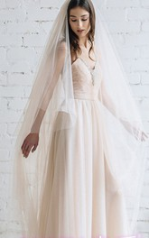 Champagne Ethereal Puffy Long Wedding Veil