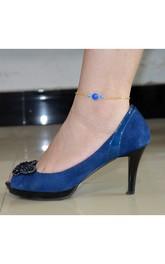 Popular Hot Fashion Blue Crystal Anklet