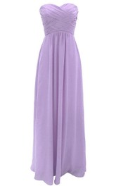 Graceful Sweetheart Ruched A-line Dress With Zipper Back