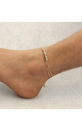 Simple Temperament Anklet Double Bells Beads Bead Chain Anklet Jewelry
