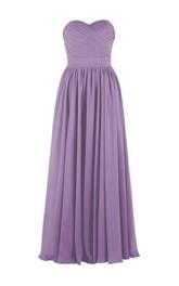 Elegant Sweetheart Criss-cross A-line Dress With Zipper Back