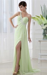 Exquisite Sweetheart Chiffon Floor Length Dress With Beadings