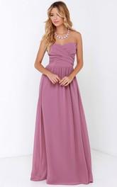 Sweetheart Charming Long Dress With Crisscross Ruching