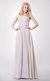 Graceful One-shoulder A-line Chiffon Floor Length Dress