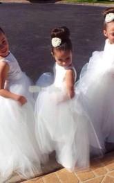 Lovely Tulle Princess Jewel Flower Girl Dress 2018 Floor-length