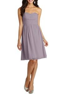 Ruched A-line Short Chiffon Dress