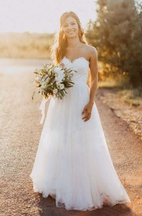 Sexy Sweetheart Lace Appliques Beads Backless Tulle Beach Bahamian Wedding Dress