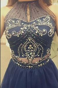 Sexy Halter Beadings Crystals Cocktail Dress 2018 Mini Sleeveless