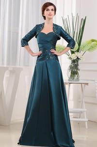 Sleeveless A-line Dress With Matching Jacket Style