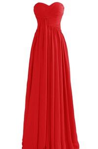 Basque Waist Long Chiffon Dress With Zipper Back