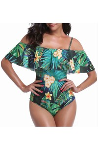 Rainforest Off the Shoulder Swimsuit