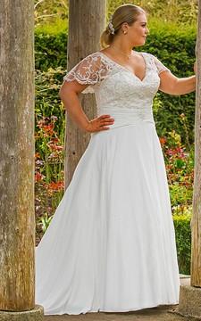 Delicate Iris Wedding Dress